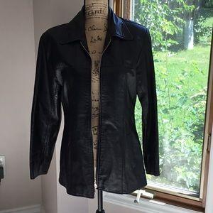 Pera Pelle Black Leather Coat